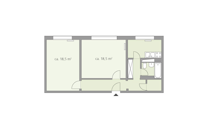 2 Zimmer Ca. 60 M²